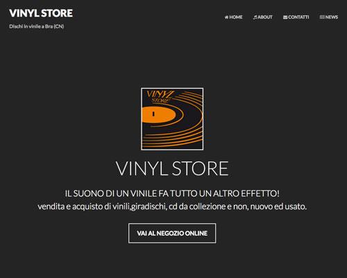 realizzazione sito internet Vinyl Store di Bra in provincia di Cuneo