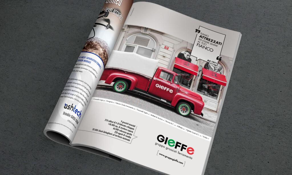 Studio campagna pubblicitaria su riviste